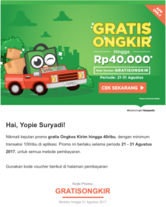 Contoh email marketing