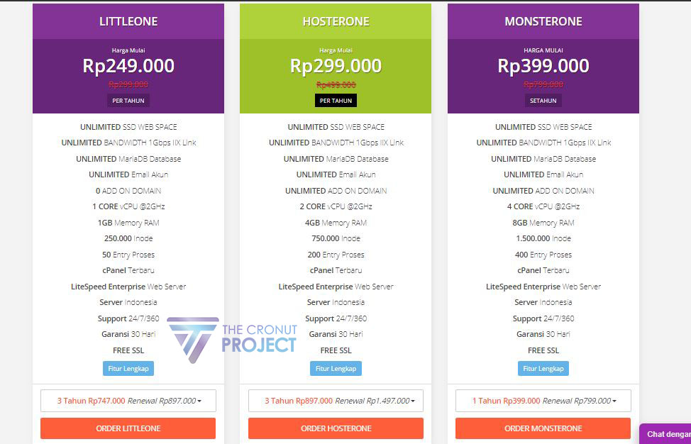 Paket hosting hoster.co.id