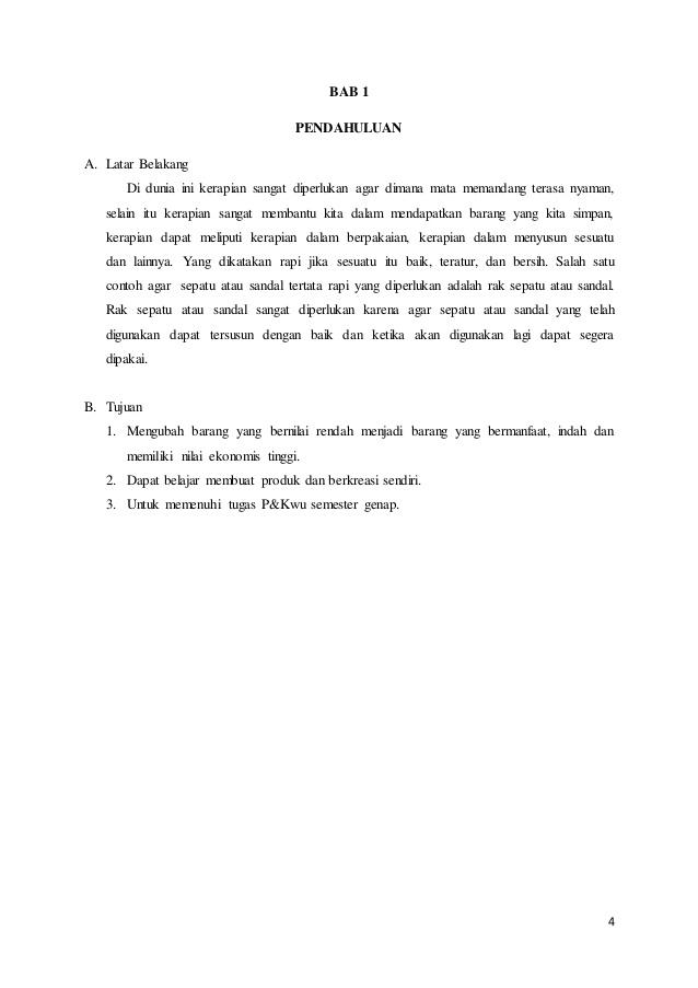 Contoh Proposal Kerajinan dari Kayu